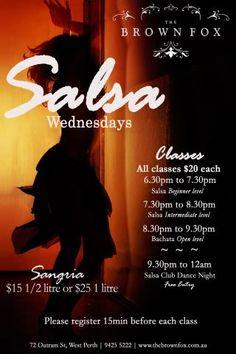Salsa Classes at The Brown Fox | Perth City