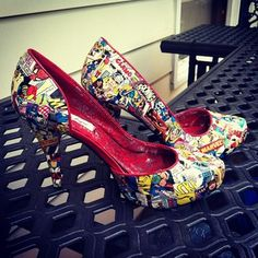 Comic Book Shoes | 29 Geek DIY's To Make Right Now