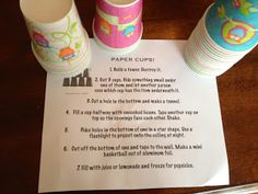 Busy Bag Idea: Small Paper Cups (finished) easy, frugal