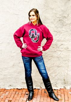 Gameday Couture - WR13-OU HOODED LACE SWEATSHIRT, $19.99 (http://www.gameday-couture.com/wr13-ou-hooded-lace-sweatshirt/)