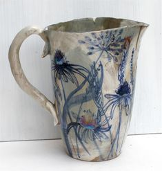 My Latest Artwork - Echinacea Jug-Jacqueline Leighton Boyce