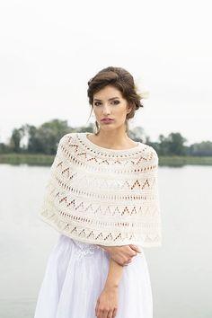 Ivory Shrug Wedding Cape Occasion Wool Bolero Bridal Cape  Hand Knitted Shrug