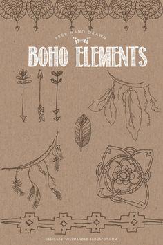 Free Hand Drawn Boho Elements - Designs By Miss Mandee