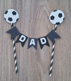 Soccer Cake Bunting, Dad Cake Bunting, Fathers Day Cake Bunting, Black and Grey Cake Bunting, Socce Soccer Cake, Soccer Theme, Football Themes, Soccer Party, Cake Bunting, Cake Banner, Fathers Day Cake, Fathers Day Crafts, Diy Cake Topper