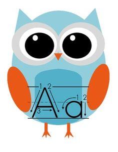 FREE Owl themed alphabet cards