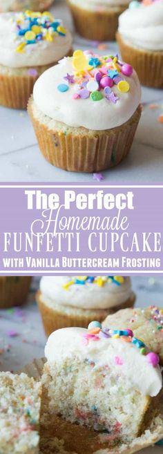 The Perfect Homemade Funfetti Cupcake with Vanilla Buttercream. Fluffy cake loaded with sprinkles for bits of fun and color. All topped with a creamy, homemade vanilla buttercream. And more sprinkles of course! So easy to make and sure to be a big hit! These homemade funfetti cupcakes are definitely a party in cupcake form. Sprinkles....Read More