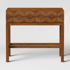 $130 Tachuri Geometric Front Console Table Brown - Opalhouse™ : Target