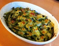 Gratinierte Fisolen - Rezept - ichkoche.at Guacamole, Food And Drink, Low Carb, Mexican, Ethnic Recipes, Veggie Food, Souffle Dish, Healthy Recipes, Mexicans
