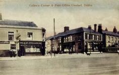 "Cullen's Corner and Post Office, Clontarf, Dublin City (Name ""cullen"" on front of shop). Vintage Photographs, Vintage Photos, Tower House, Dublin City, Emerald Isle, 12th Century, Dublin Ireland, Post Office, Old Pictures"