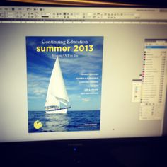 Working on the Summer 2013 catalog