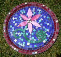 Mosaic Birdbath made using claypot flower pots and saucer