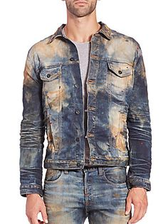 PRPS Capricornus Denim Jacket Nudie Jeans, Denim Jeans Men, Love Jeans, Jeans Style, Bohemian Style Men, Stylish Jackets, Destroyed Jeans, Denim Outfit, Suit And Tie