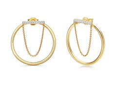 Large Pave Bar Drop Chain Front Facing Hoops View Missoma's stunning designer jewellery collections, including engravable friendship bracelets, delicate diamond pave charms and personalised pieces for the perfect gift.