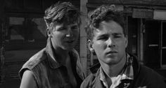 """Jeff Bridges and Timothy Bottoms in """"The Last Picture Show"""" (1970, Peter Bogdanovich)"""