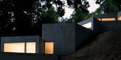 The Tolo house, designed by Alvaro Leite Siza, is build on a sharply inclined hill in Penafiel, Portugal.