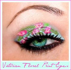 Victorian Floral Print Eyes http://www.makeupbee.com/look_Victorian-Floral-Print-Eyes_3671