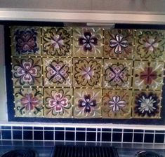 Faux tin tiles made from disposable cookie sheets!