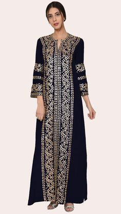 Presenting our Luxury Kaftan Gown collection with each piece crafted in a luxurious fabric and adorned with our signature embroidered workmanship. Talking Threads Luxury Kaftan Gowns exude stylish elegance befitting your next special occasion, be Designer Dress For Men, Indian Designer Wear, Designer Dresses, Kaftan Pattern, Kaftan Gown, Islamic Clothing, Oriental Fashion, African Print Fashion, Mode Hijab
