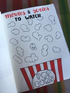 Movies and series to watch | Bullet Journal | BuJo | Anique Gerrits