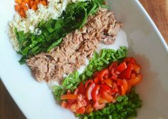 Great recipe for Tuna salad. With all this loadshedding I decided to share a go-to dinner that doesn't require any electricity! Tuna Recipes, Great Recipes, Salad Recipes, Tuna Salad, Cobb Salad, Pita Bread, Green Beans, Feta