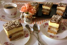 Create an account or log in to Traiborg. Sweets Recipes, Desserts, Romanian Food, Romanian Recipes, Dessert Drinks, Coco, Food To Make, Cupcake Cakes, Bakery