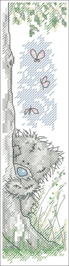 Tatty bear - bookmark