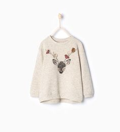 Image 1 of Deer sweatshirt from Zara