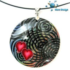 Polymer Clay Pendant by Marcia of Mars Design