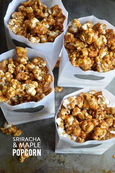 sriracha maple popcorn