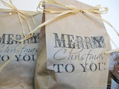 """""""brown paper packages tied up with string""""... how to print on bags"""