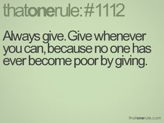 Always Give!