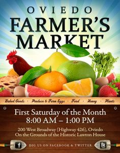 Oviedo Farmer's Market - NE of Orlando.  Where-ever you live, farmers markets are great places to get healthy food on the cheap.  Nothing is more cozy then a meal on the stove.