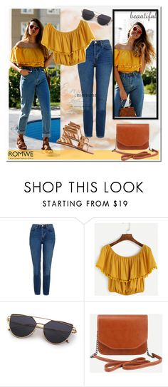 """""""Romwe 7/10"""" by smajicelma ❤ liked on Polyvore featuring Topshop"""