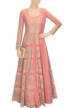 Aneesh Aggarwal coral pink lehenga