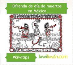 Ofrenda de día de muertos en México 1&2 de Noviembre.