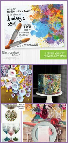 Wine Glass Painting Party Ideas {for National Wine Day} #winewednesday