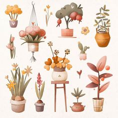 Plant Illustration, Watercolor Illustration, Watercolor Paintings, Food Sketch, Plant Drawing, Journal Stickers, Spring Is Here, Cute Icons, New Art