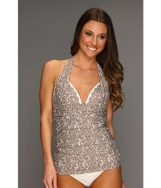Gorgeous swim suit! DKNY Lola Lace Shirred Halter Tankini Flax - Zappos.com Free Shipping BOTH Ways