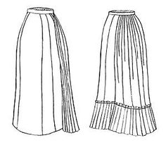 Victorian Old West style sewing pattern for 1878 Uunderskirt  TV221 NEW