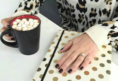 Happy National Hot Chocolate Day ! Nothings sweeter than a pretty Manicure and warm a cup of Cocoa.