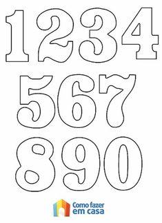 Moldes De Numeros Para Imprimir Para Alfabetizacao E Colorir Pictures Alphabet Templates, Number Templates, Number Stencils, Printable Numbers, Felt Patterns, Alphabet And Numbers, Hand Lettering, Coloring Pages, Clip Art