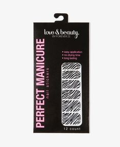 Zebra nail sticker. The most inexpensive one I've seen on the market.