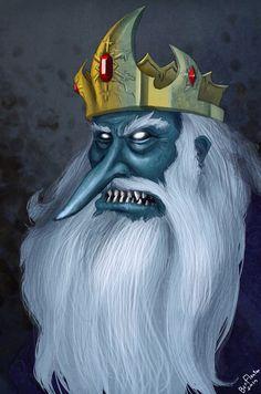 Ice King Land Of Ooo, Lego, Time Cartoon, Finn The Human, Ice King, Adventure Time Art, Character Portraits, Creepy, Anime