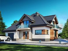 House Roof, Facade House, My House, Model House Plan, House Plans, Home Building Design, Building A House, Home Fashion, Future House