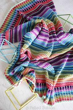 Ravelry: Skittles Blanket free crochet pattern by Susan Carlson, #haken, gratis patroon (Engels), deken, sprei, #haakpatroon