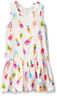 The Childrens Place Girls Racer Back Ki Drs Simply White 1218 Months * Want additional info? Click on the image.