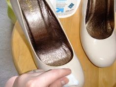 how to paint patent leather shoes? Never occurred to me to use acetone to break up the patent surface and give paint tooth.