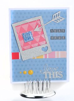 It's Hip to Be Square week at Epiphany Crafts! I love the Square 25 tool and thought it would be perfect for a QR Code card. Epiphany Crafts, Photo Journal, Smash Book, Cute Cards, Scrapbooks, Create Your Own, Card Making, Paper Crafts, Shapes