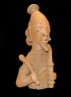 Nok Bust Of A Warrior King Nigeria C 500BC 200AD Terracotta