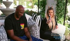 Still close: Lamar and Khloe also met earlier and she talked about Rob not communicating with her